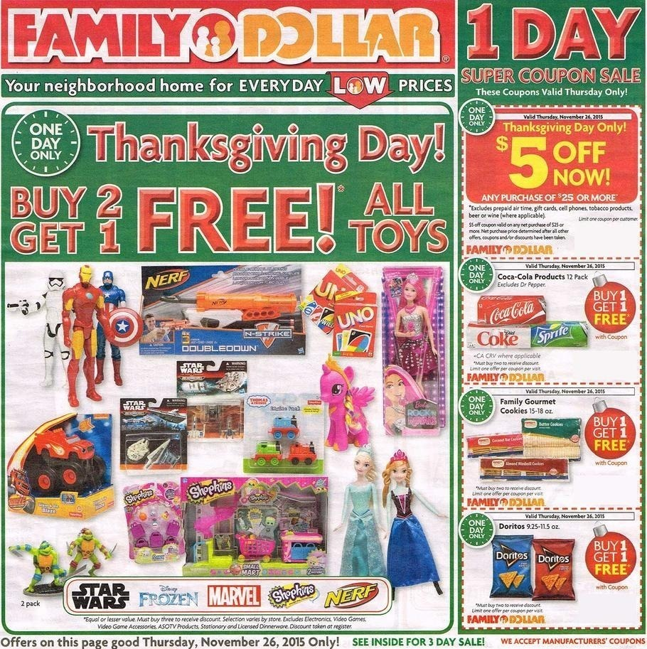 Family Dollar Black Friday 2015 Ad Page 1