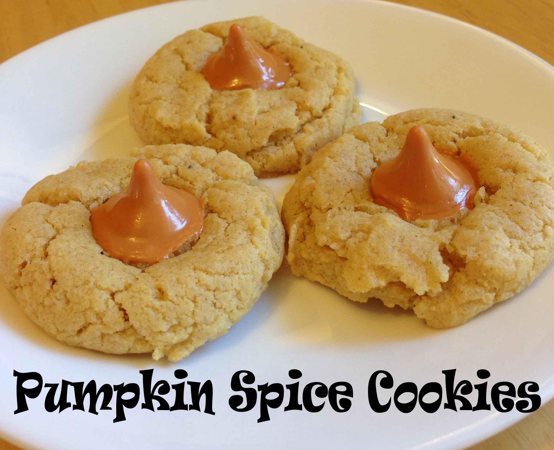 Pumpkin Spice Cookies (using Hershey Pumpkin Spice Kisses)