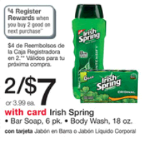 Irish spring RR $1 Irish Spring After Coupons and Register Rewards!