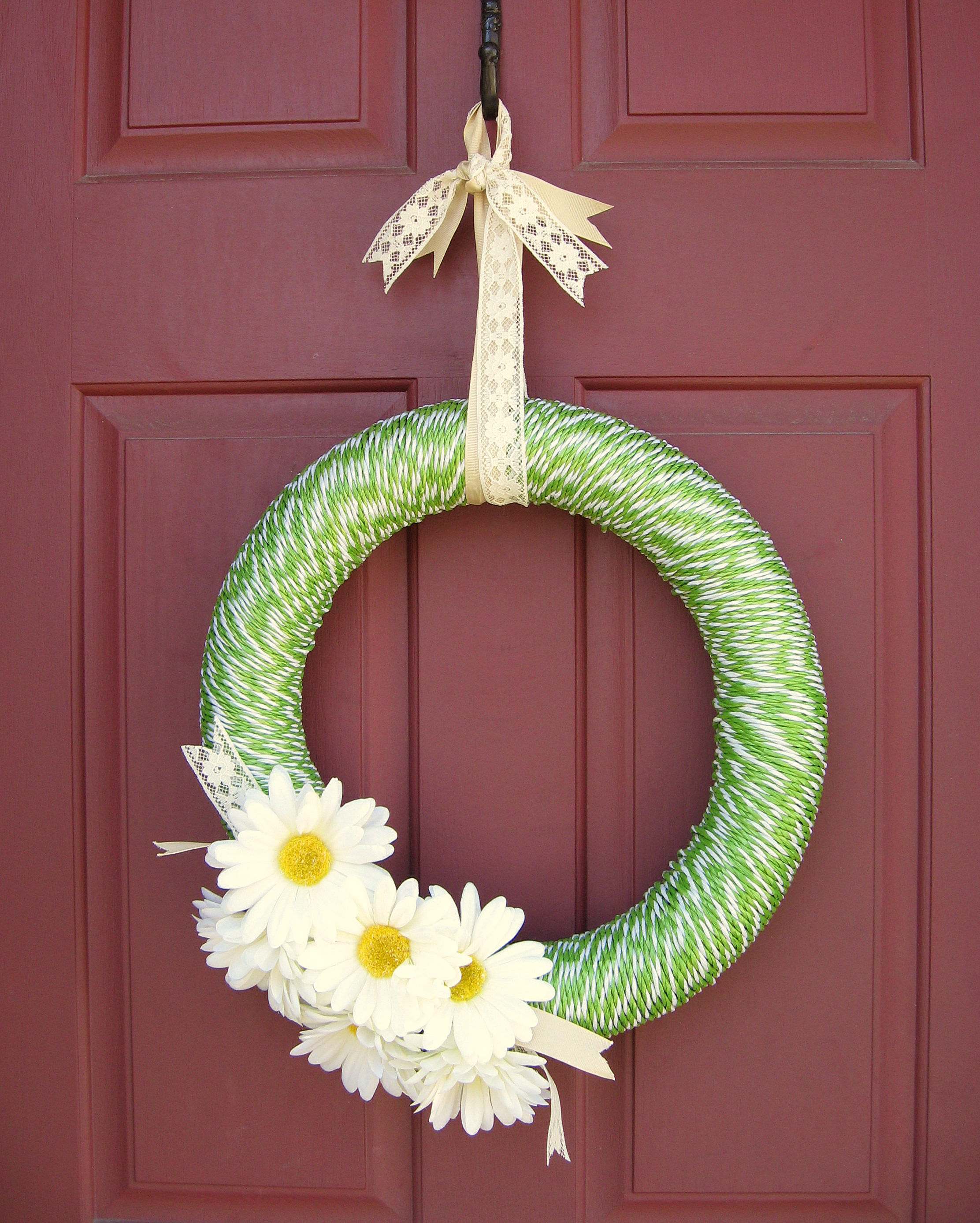 Dollar Store Spring Wreath Pinching Your Pennies