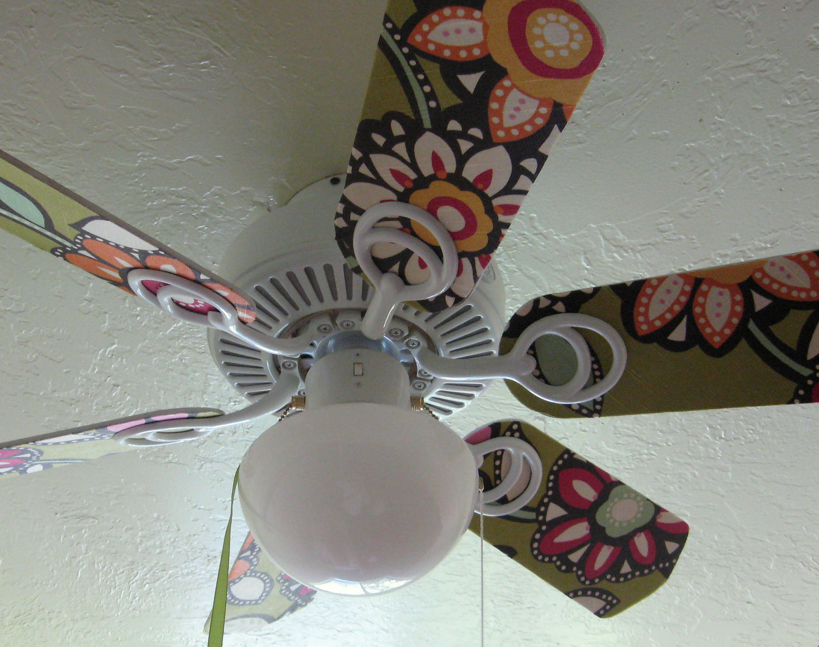 A pyp best blog update a boring ceiling fan pinching your pennies screw the finished fan blades back into place and enjoy mozeypictures Gallery