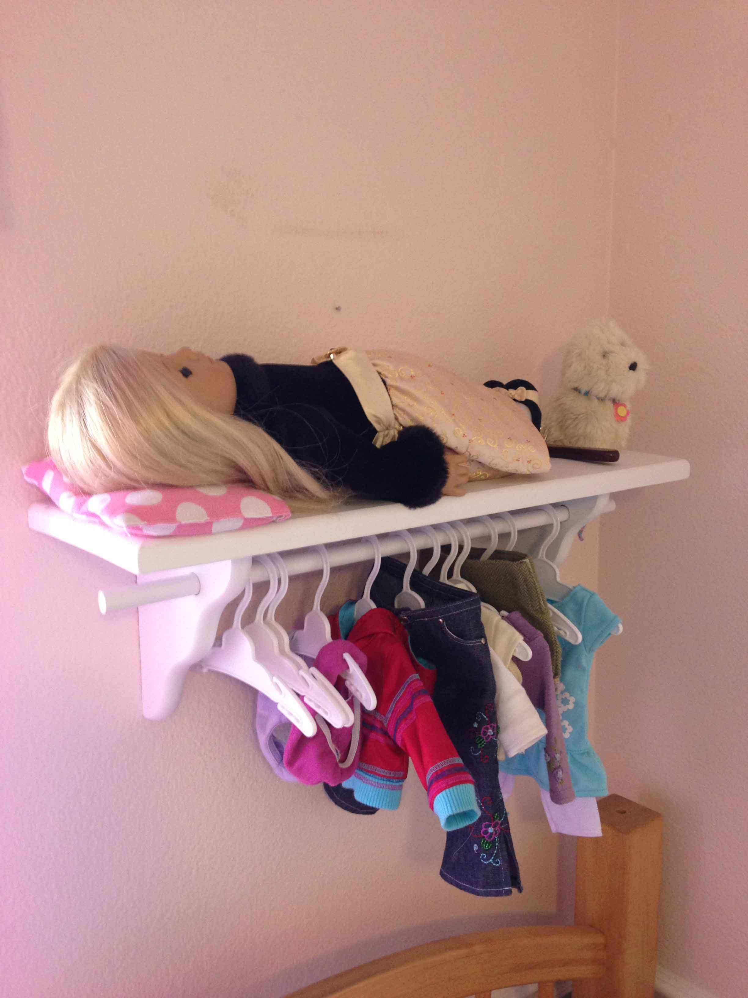 You Take A Shelf And Dowel And Turn It Into A Bed And Storage For Her  Clothes And Accessories! What A GREAT Idea. I Bought This Shelf At  Michealu0027s (the Ones ...
